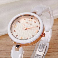 New Arrival K1234 100% Ceramic BrandKEZZI Ladies Wristwatch Crystal Stone Ceramic Watch Women free shipping