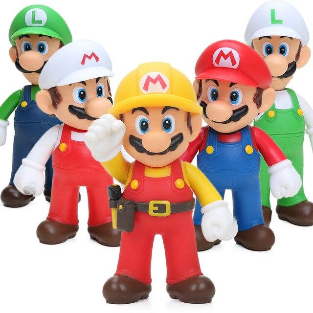 Game Super Mario Bros Action Figure – Yoshi Luigi Mario PVC Action Figures Toys | 12cm