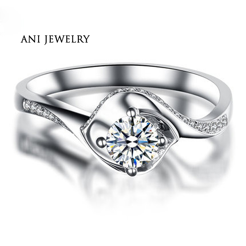 Jewelry & Watches Sincere 14k White Gold Over Diamond Engagement And Wedding Ring 2.50 Carat Pear Shaped To Ensure Smooth Transmission