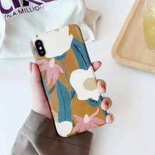 Cqqdoq Literay Retro Flower Phone Case For iPhone X XR XS MAX Soft TPU Protective Cases For iPhone 6 6S 7 8 Plus Coque Fundas cqqdoq gradient diamond phone case for iphone 6 6s 7 8 plus soft tpu protective shell cover for iphone x xr xs max cases fundas