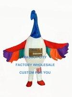 custom rainbow swan bird mascot costume adult size cartoon birds theme anime cosplay costumes carnival fancy dress for  3436