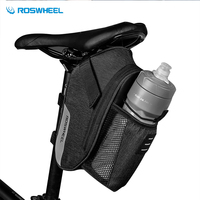 e4710e03b13 ROSWHEEL 1 8L Portable Bicycle Saddle Bag Waterproof Cycling Rear Bag Bike  Rear Seat Taillight Bag