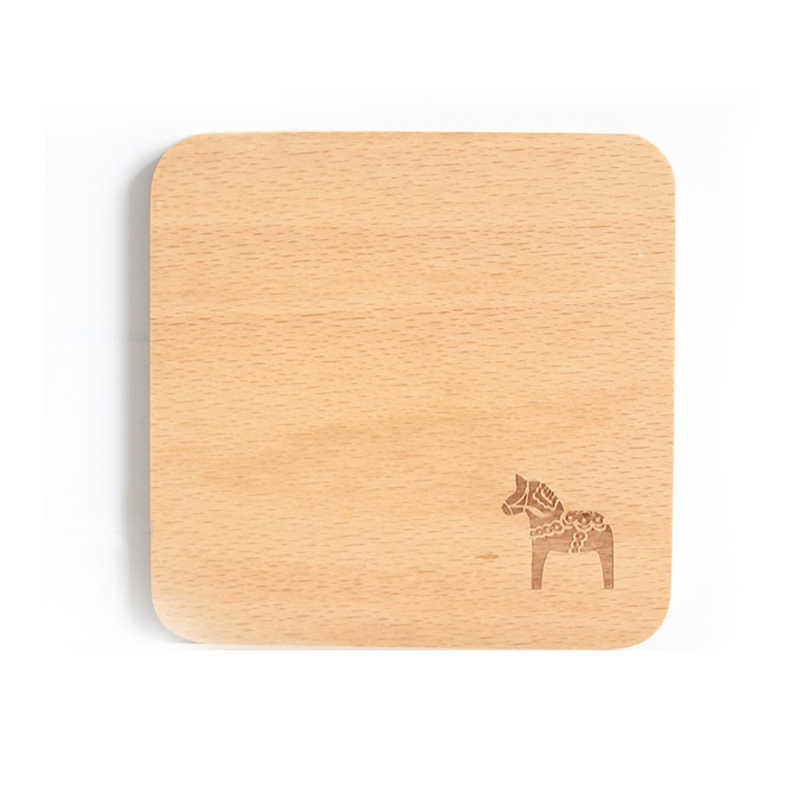 Wooden Table Coasters Hot Pad Cork Animal Table Mat Round Placemat Dining Table Mats Kitchen Accessories Decoration Home