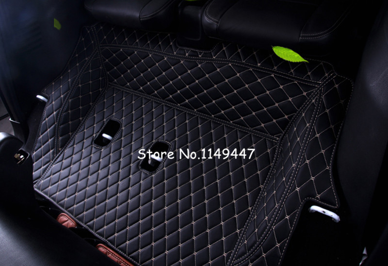 For Right-Hand Drive!  7 seats  Leather Front & Rear Floor  Mats  Carpets For  Isuzu MU-X 2013 2014 2015 2016 2017 for isuzu emps iii 2014
