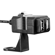 Çift USB Motosiklet Şarj Su Geçirmez Motosiklet Gidon Telefonu Şarj 12 V-24 V güç kaynağı soketi
