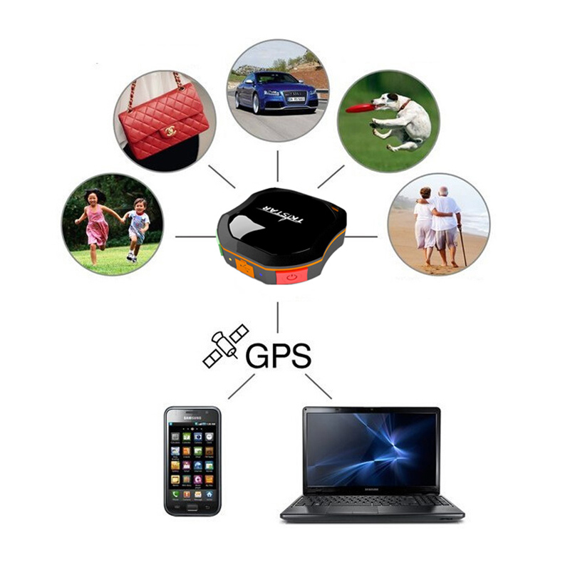 waterpoof gps dog tracking chip system with mobile phone track pets people kids cars without