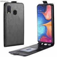 Para Cobrir Galáxia A20 e Virar PU Carteira de Couro Do Caso Da Aleta Silicone Bumper Telefone Bag Fit For Samsung Galaxy A20e cobertura de luxo A20E