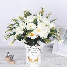 מלאכותי אדמוניים פרחי משי זר לחתונה קישוט זול קטן מזויף פרחי בית תפאורה DIY באיכות גבוהה הסיני עשה
