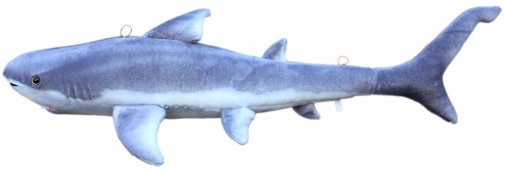 JESONN Realistic Stuffed Marine Animals Plush Stora hajleksaker för barns födelsedagspresenter, 85 CM