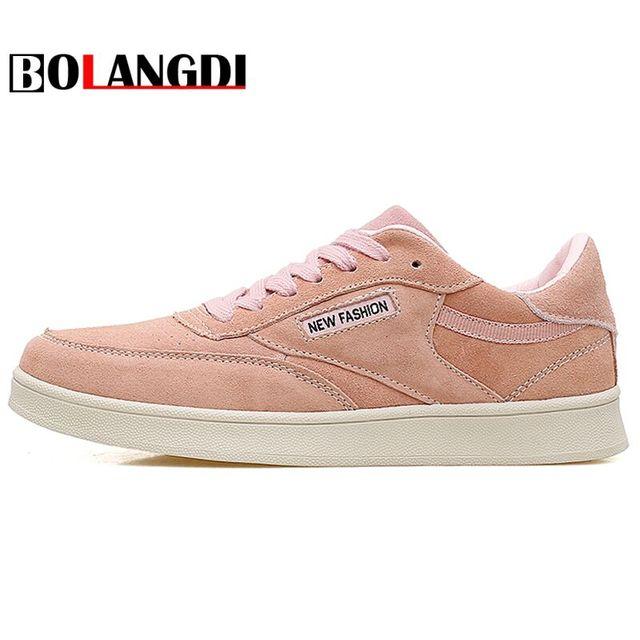 new product dfda4 9ad8e Bolangdi Originale in pelle classica rosa bianco scarpe donna sneakers  basse scarpe classiche Scarpe Da Skateboard