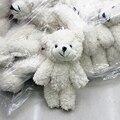 50 шт. Мини Совместное Плюшевый Мишка Плюшевые Игрушки Цепи Белый Клейкий Медведи Животных для Свадьбы Baby Born Стороны