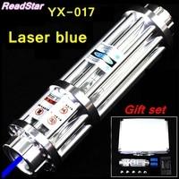 [ReadStar]RedStar YX 017 High power 450nm Blue laser pointer Laser pen burn match solder w/ starry caps laser cannon laser gun