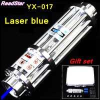 [Readstar]レッドスターYX 017高電力450nmの青レーザーポインターレーザー5000mvはんだw/星空レーザー大砲レーザーガン