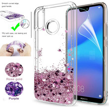 For Huawei P20 Lite Glitter Case For Huawei nova 3E/P20lite Sparkle Shiny Bling Quicksand Liquid Clear TPU Slicone Back Cover(China)