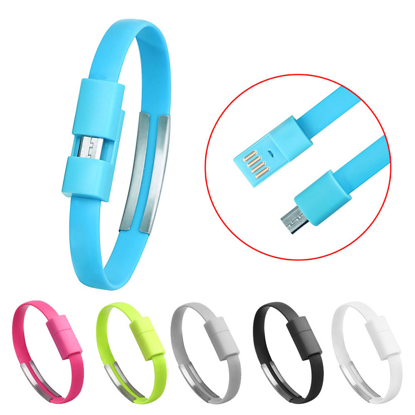 MOSUNX Futural Digitale Selling Wristband Micro USB Cable Charger Charging Data Sync For Android Cell Phone cable de datos F35