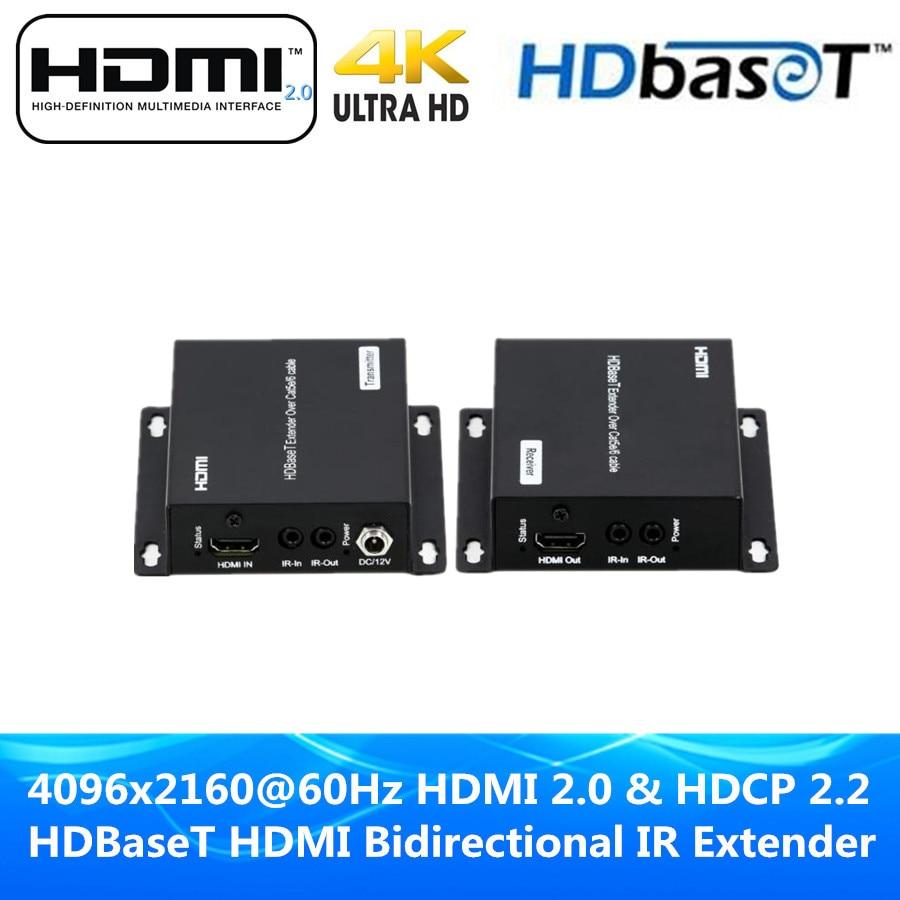 Наивысшее качество 4k @ 60 Гц HDMI 2.0 и HDCP 2.2 230ft HDMI HDBaseT ИК Extender 70 м над UTP/ STP cat5e cat6 кабель 4 К HDMI poc Extender