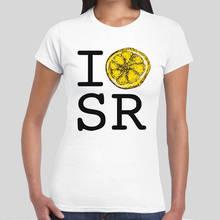 Cartoon Hip Hop Shirt  O-Neck I Love Stone Roses Lemon Heart  Women Short Sleeve Broadcloth T Shirt цена
