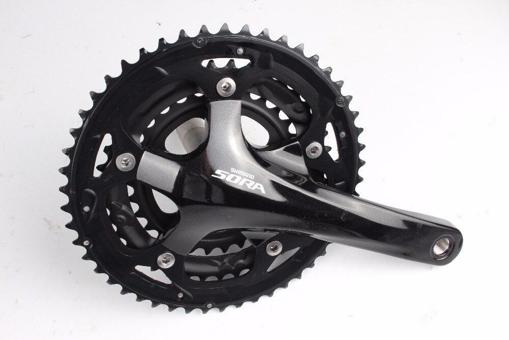 Shimano Sora FC-3503 3x9 Speed road bike bicyclecrankset 50-39-30t with BB shimano sora fc 3503 3x9 speed road bike bicyclecrankset 50 39 30t with bb