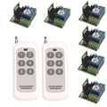 DC 12V Mini Wireless Remote Control Switch 1 Channal Intelligent Family System 6X Receiver+2X 6-Key Remote Control Rransmitter