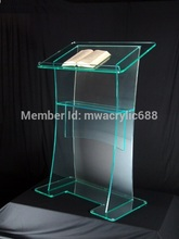 Free Shipping High Quality Fruit Setting Modern Design Cheap Clear Acrylic Lectern podium