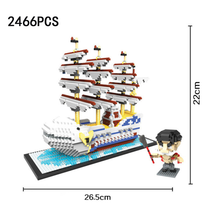 Japan Anime one piece micro diamond building block Edward Newgate Moby Dick pirate ship nanoblock assemble model bricks toys creator hot world famous city funland micro diamond building block castle nanoblock assemble model bricks toys collection gifts
