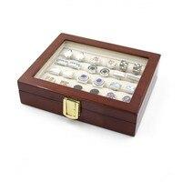 2016 Botão de Punho Abotoaduras de Presente de Armazenamento caixa de Jóias Caixa de Exibição Caso de Alta Qualidade Caixa De Madeira Pintada
