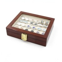 2016 Cufflink Cuff Links Storage Gift Box Jewelry Display Case High Quality Painted Wooden Box