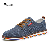PACENTO Brand Mens Shoes High Quality Breathable Shoes For Men Hemp Soft Casual Shoe Flats Large