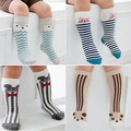 new Cute Cartoon Children Sock Print Animal Cotton Baby Kid Sock Knee High Long Fox Socks For Toddler Girl Clothing Accessories
