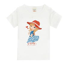 Girls Short Sleeve T Shirts For Children Cute Little Girl T-shirt Cotton 1-15 Year Kids Clothing Baby Girls Tops Tees Clothes