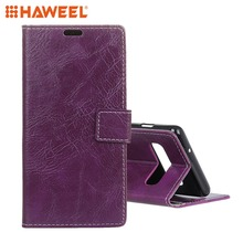 HAWEEL For Samsung Galaxy S10 Case Retro Crazy Horse Texture Horizontal Flip Leather With Holder & Card Slots Photo Frame