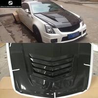 CTS углеродное волокно крышка капота для Cadillac CTS Комплект кузова 04 15