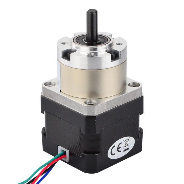 5:1 Planetary Gearbox Stepper Motor Nema 17 Gear Stepper Motor 0.4A for DIY CNC Robot 3D Printer 17HS13-0404S-PG5