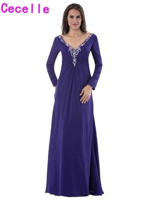 Deep Purple Evening Gowns