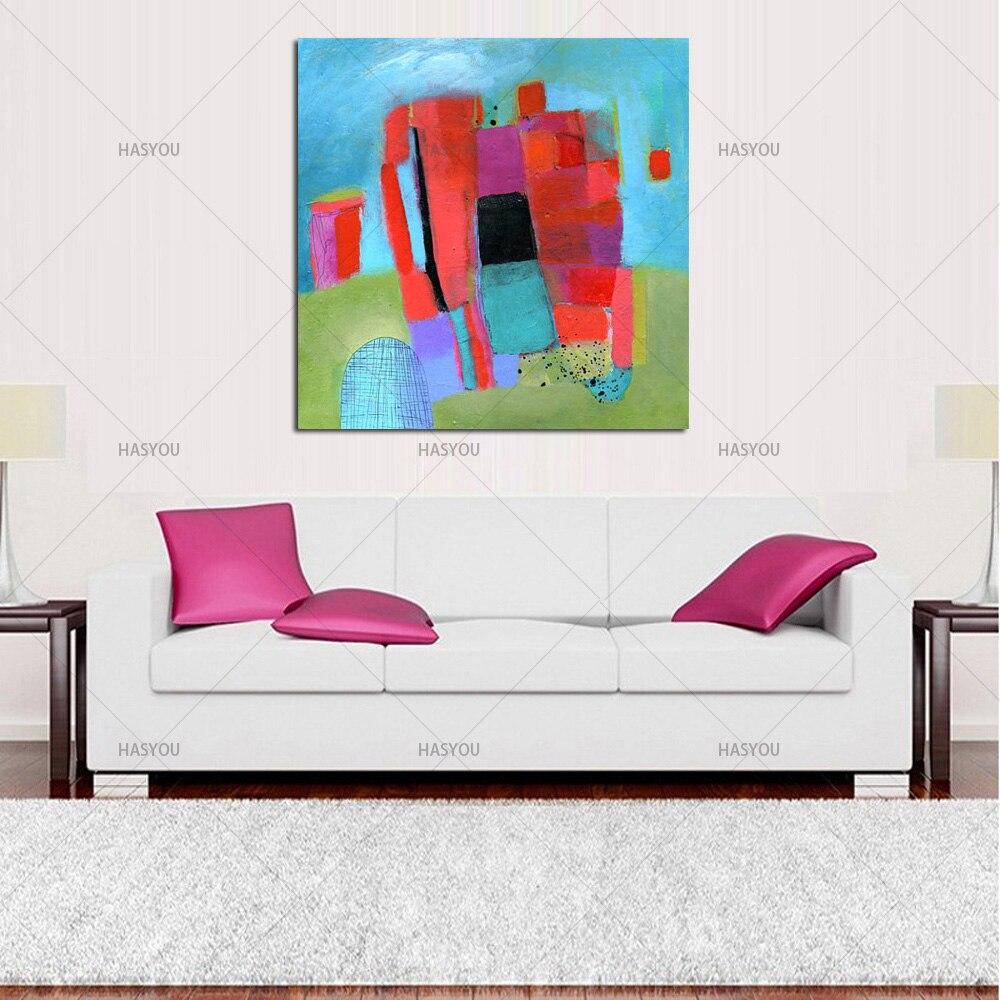 Pintura Moderna Da Arte Da Parede Quadros Para Sala De Estar Pintado  -> Quadro De Parede Para Sala Abstrato