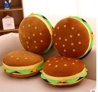 Genuine mezzanine hamburger children plush toy pillow cushion