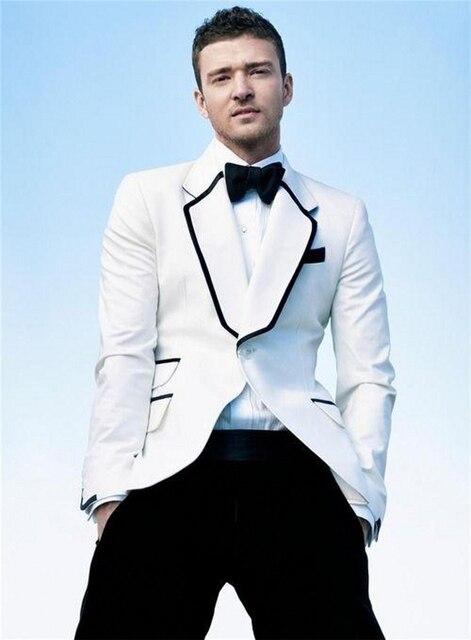 New Arrival Groom Tuxedos Ticket Pocket Groomsmen Notch Lapel Men Wedding Suits Best Mens Suit