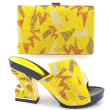 Italian Shoes With Matching Bags For Party High Quality Fashion African Wedding Sandal Shoes And Bags Set With Stones TH16-08