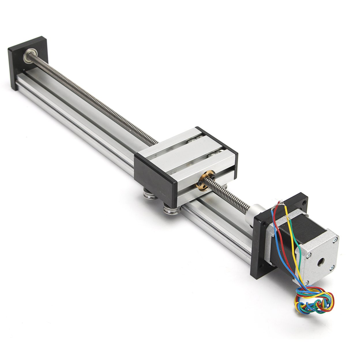 CNC Linear Motion Lead Screw Slide Stage 300mm Stroke Actuator 42 Stepper Motor a funssor 50mm 150mm slide stroke cnc z axis slide linear motion nema17 stepper motor for reprap engraving machine