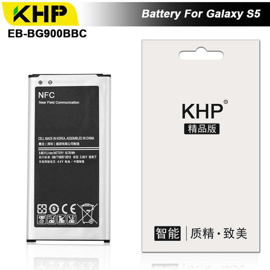 KHP KHP 2017 Original Bateria Bateria Do Telefone Para Samsung Galaxy i9600 S5 G900S G900F EB-BG900BBC Substituição Da Bateria Móvel