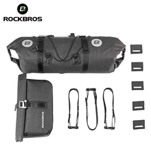 ROCKBROS Waterproof Bicycle Bags Cycling Bike Handlebar Front Frame 2 in 1 Bag Set Large Capacity Pouch Pannier Accessories