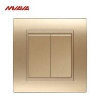 MVAVA 16A Light Wall Switch 2 Gang 1 2 Way Wall Decorative Light Control Push Button