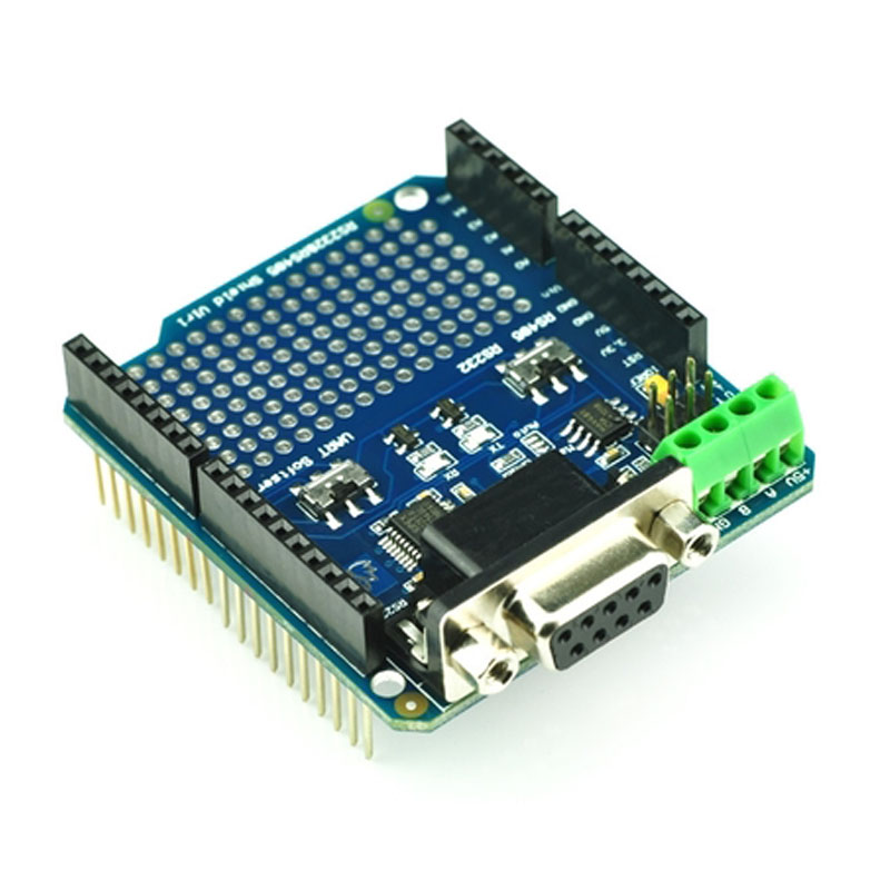 RS232/485 Shield For Arduino RS232 RS485 Communication Module