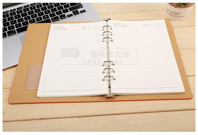 RuiZe 2018 Sərt örtüklü dəri spiral notebook A5 planlayıcı - Qeyd kitabçaları - Fotoqrafiya 2