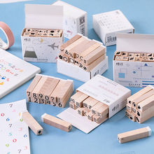 Vintage Digital series wood stamp DIY wooden rubber stamps for scrapbooking stationery standard