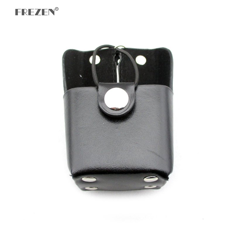 Two Way Radio Leather Protective Sleeve Shoulder Bag Hard Holster Case For Motorola Mag One A8 A8D A8I A6 GP328plus GP344 GP388