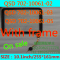 С рамкой сенсорный экран QSD 702-10061-02 QSD 702-10061-03 QSD 702-10061-05 для 10.1 inch tablet pc