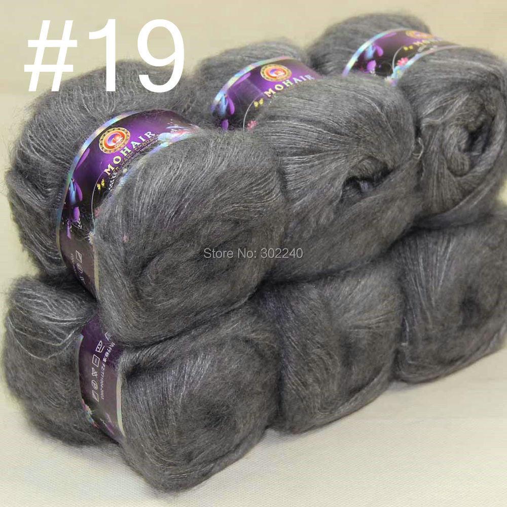 Lote de 6 bolas MOHAIR 50% Cabras de angora Cachemira 50% seda Hilo - Artes, artesanía y costura