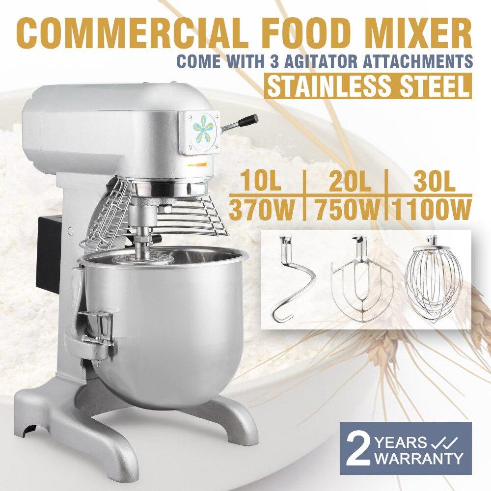 Mélangeur de nourriture de pâte 30QT mélangeur 1.5HP tout nouveau 30 Quarts Commercial résistant en acier 3-Speed Stand mélangeur de nourriture de pâte