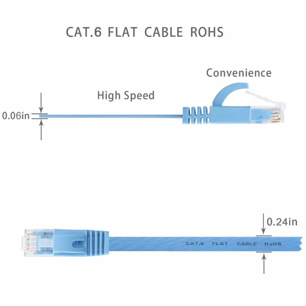 Lnyuelec 015m15cm Cable Pure Copper Wire Cat6 Flat Utp Ethernet Cat 6 568 C Wiring Diagram Get Free Image About In Network Rj45 Patch Lan Blue White Black Color Cables From Computer
